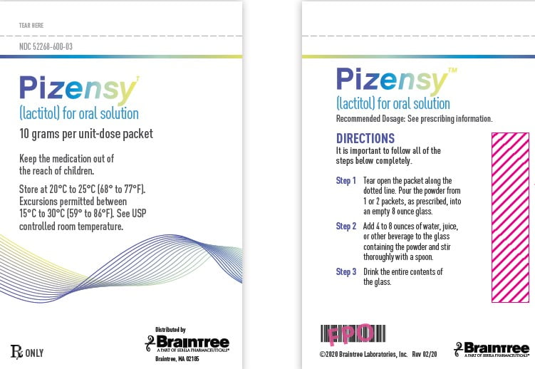 PIZENSY (lactitol) for oral solution